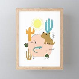 In the Desert Framed Mini Art Print