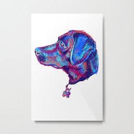 Scribble dog Metal Print