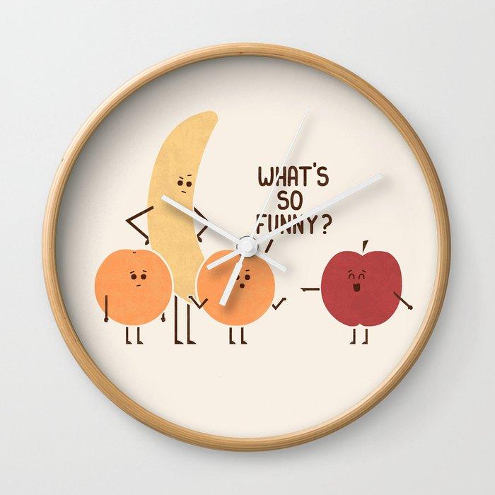 Silly Apple Wall Clock By Teozirinis Society6