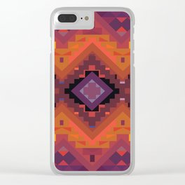 American Native Pattern No. 136 Clear iPhone Case