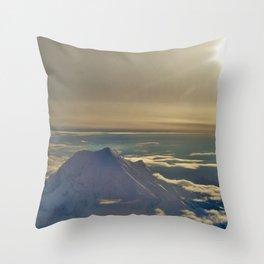 At the Top of Denali Throw Pillow