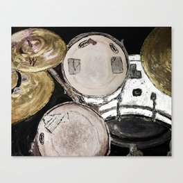 drum set, ready to rock Canvas Print