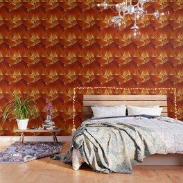 Leaves in Terracotta Color #decor #society6 #buyart Wallpaper
