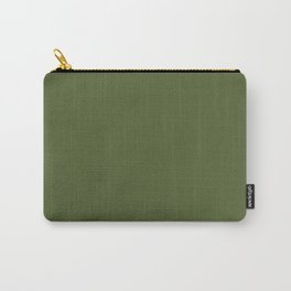Peony Drama ~ Garden Green Coordinating Solid Carry-All Pouch