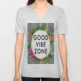 (((( Good Vibes )))) Unisex V-Neck