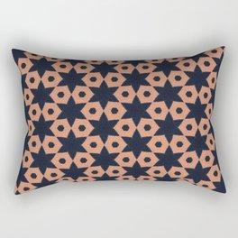 corail and black fabric Rectangular Pillow