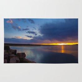 Bluewater Lake Sunset Rug