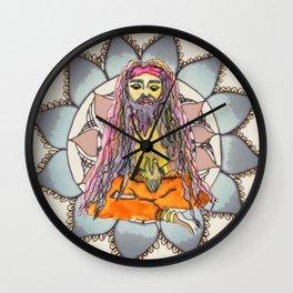 Sadhu by Tarachand Mandala by Motilal Wall Clock