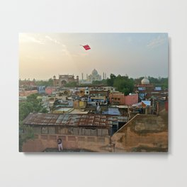 Let's go fly a kite/On the rooftops of Agra Metal Print