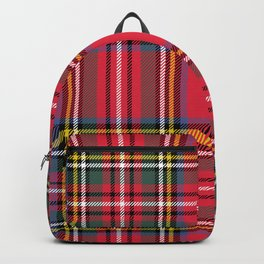 Red & Green Tartan Pattern Backpack