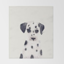 little dalmatian Throw Blanket