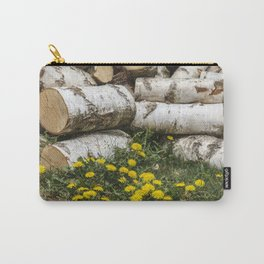 Dead Birch Tree And Living Dandelion Carry-All Pouch