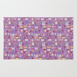 Proud To Be a Nurse Pattern / Purple Rug