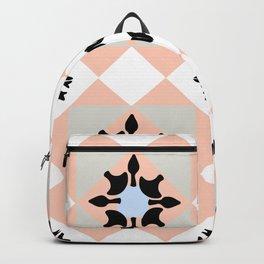 Portuguese tiles pattern vector Backpack