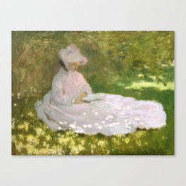 Springtime by Claude Monet Canvas Print