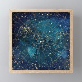 Star Map :: City Lights Framed Mini Art Print