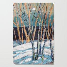 White Birch Grove / Dennis Weber / ShreddyStudio Cutting Board
