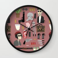 leon Wall Clocks featuring Leon  by Max the Kid