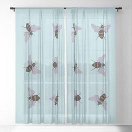 bees Sheer Curtain