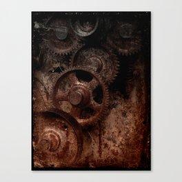 Gear mechanism shady Canvas Print