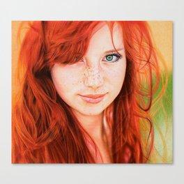Redhead Girl Canvas Print