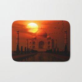 Taj Mahal Sunset Bath Mat