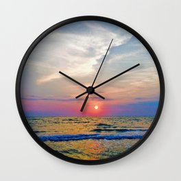 Naples Florida sunset on the Gulf of Mexico Wall Clock