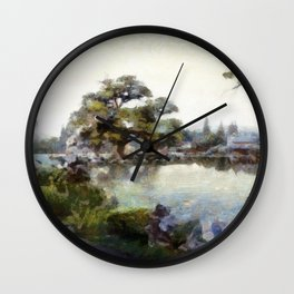 Asia Winter Wall Clock