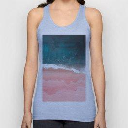 Turquoise Sea Pastel Beach III Unisex Tank Top