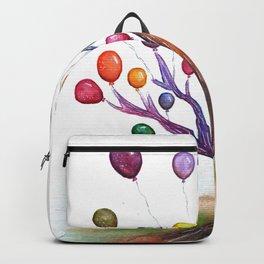 Balloon Tree Watercolor Backpack
