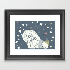 Let's Cuddle Framed Art Print