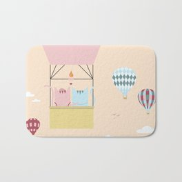 Traveling Tabbies: Hot Air Balloon Bath Mat