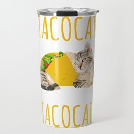 Taco Cat Gift Foodie Kitty Cat Funny Mexican Food Present Travel Mug