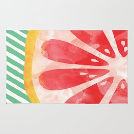 Red Grapefruit Abstract Rug