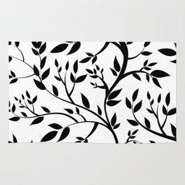 Black Trees on White Rug