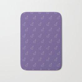 Baesic Llama Pattern (Ultra Violet) Bath Mat