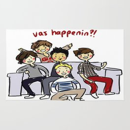 One Direction 'Vas Happenin' Cartoon Rug
