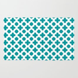 Stars & Crosses Pattern: Teal Rug
