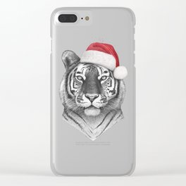 Christmas Tiger Clear iPhone Case