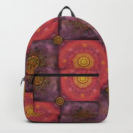 """Moroccan chess Strawberry & Purple Pattern"" Backpack"