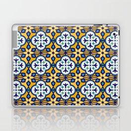 Yellow and Blue Moroccan Tile Laptop & iPad Skin