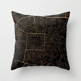Chiang Mai map, Thailand Throw Pillow