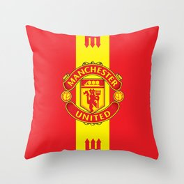 Manchester United Fc Throw Pillow