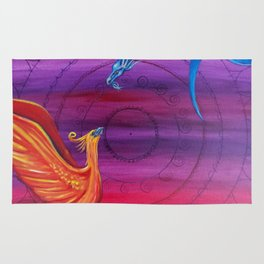 Everlasting Love - Dragon and Phoenix Rug