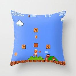 Super Mario Bros Throw Pillow