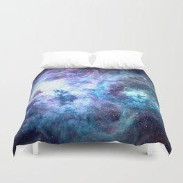 Tarantula Nebula Blue Lavender Gold Duvet Cover