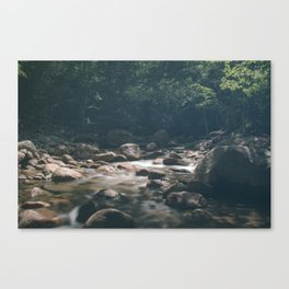 Rocky Brook from Sabbaday Falls Canvas Print