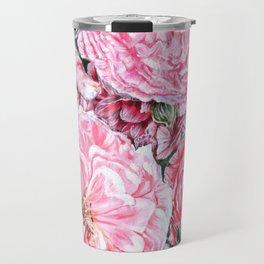 CELEBRATIONS - PEONIES GALORE- Original Fine art floral painting by HSIN LIN / HSIN LIN ART Travel Mug