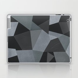 Black and grey worn . Leather patches . Laptop & iPad Skin