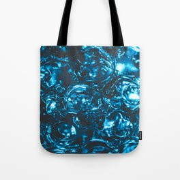 Sparkly blue water marbles Tote Bag